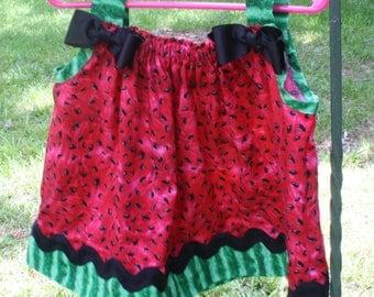 Pillowcase Dress/ Watermelon