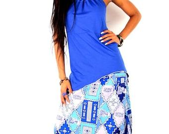 African print cotton harem pants set