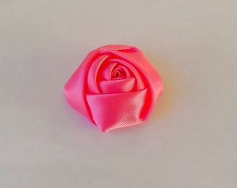 Rose pink cotton/polyester fabric