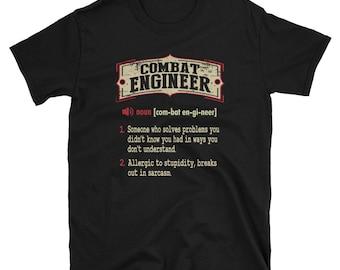 Combat Engineer Shirt Gift Sarcastic Dictionary Funny T-Shirt Tee
