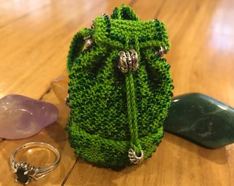 Billy Backpack Beaded Purse. Tooth Fairy Pouch. Crystal or Jewellery Pouch