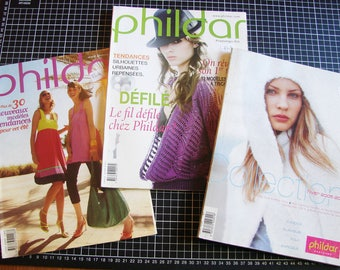 Set of 3 catalogs - knitting - Phildar clothes and women