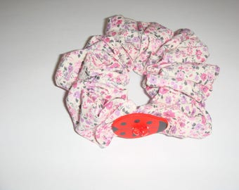 fabric hair scrunchie liberty Ladybug motif