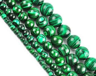 Round Pearl Malachite 4mm x 20
