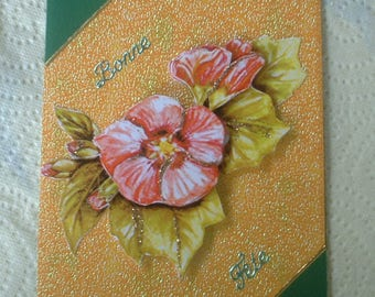 Card 9 - 3d flowers to wish a happy birthday