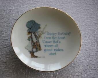 Vintage Holly Hobbie Mini Birthday Plate