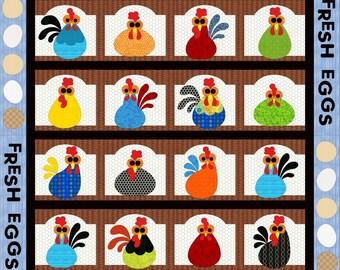 Cackle Berry Farm, applique quilt pattern