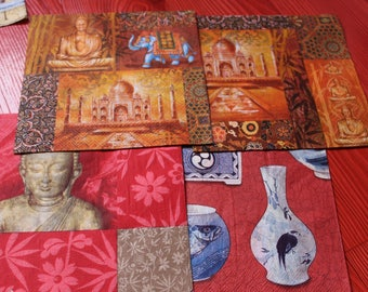 set of towels Buddha theme