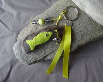 Door keys and/or Driftwood sunny yellow bag charm