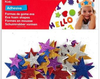 Adhesive foam glitter stars x 50 - Kids - Ref 13485 APLI shapes