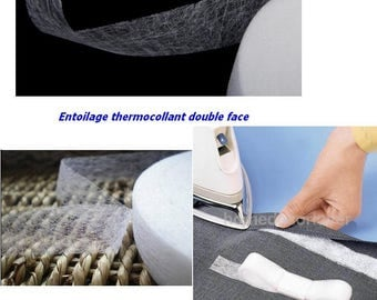 Fusible lightweight nonwoven fusible batting interlining fabric double-sided tape iron