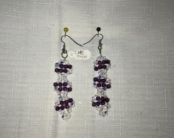 Flower cyrstals earrings