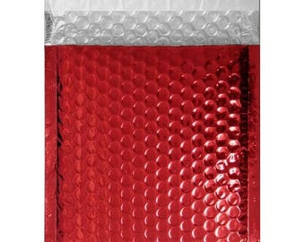 X 1 ENVELOPE IS IDEAL FOR SENDING GIFT BRIGHT RED BUBBLE