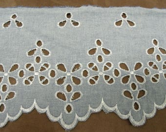 BRODERIE ANGLAISE - 15 cm - blue jeans