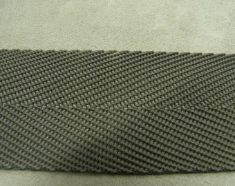 Grey cotton webbing strap 4 cm