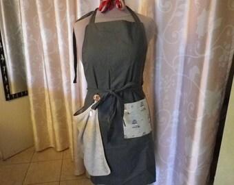Khaki apron + Terry towel