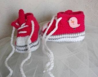 slippers baby/reborn basketball shaped raspberry 0/3 months