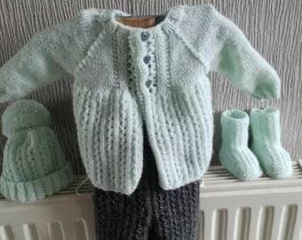 Vest, pants, booties and hat baby/reborn baby set