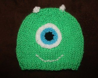 hand knitted child's monster Hat