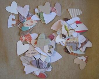Lot cuts, dies, embellishments, Confetti, heart, Valentine's day, scrapbooking