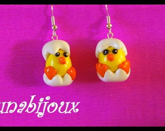 earring chicks fimo jewelry birthday gift