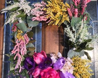 Vibrant Multicolored Wreath