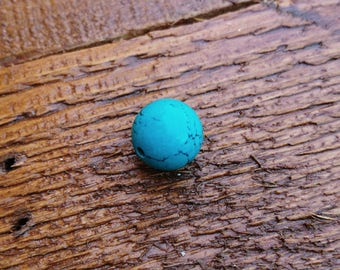 Turquoise 14mm gem stone sold by piece / 1 round blue bead 14 mm / round beads / gemstone 14mm / France jewelry supply