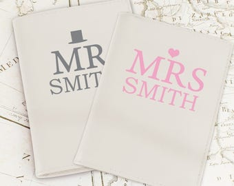 Personalised Mr & Mrs Passport Holders