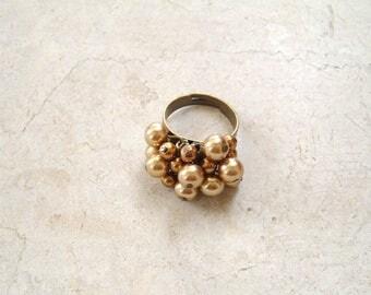Gold bronze Adjustable ring