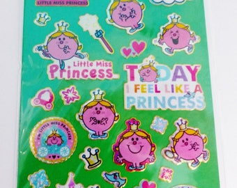 stickers reusable little miss Princess Mr Mrs Board fun foiled stickers