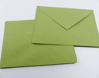 5 colorful rim 16 X 11.5 cm khaki envelope C6 envelopes