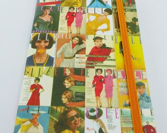 notebook old 9 x 14 cm Clairefontaine Elle magazine cover