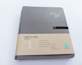 travel with envelope notebook holder documents hardcover books travel holidays note elastic closure
