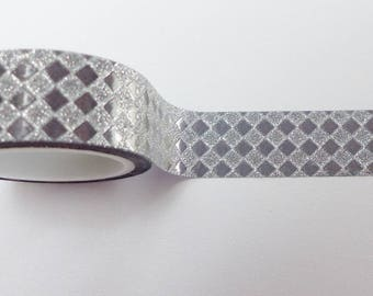masking tape silver holographic small diamond 5 mm X 3 m