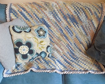 Norfolk Seashore Crochet Lap Blanket