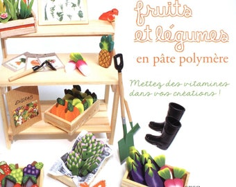 fruits and vegetables with polymer clay book