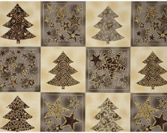 ref ST4595261 beige taupe Christmas quilting fabric