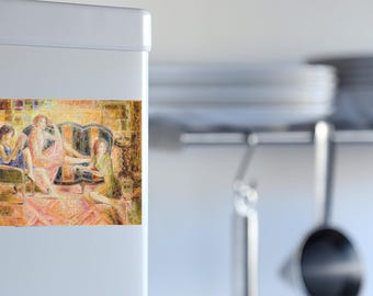 Decorative magnet shown three sisters large format
