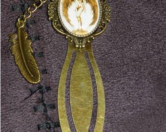"""Bookmark paper clip ¨'ºO•· °. Winged nude woman. · •Oº °'¨ """"Noss Head stars"""""""