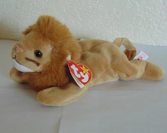 y Beanie Babies Roary Lion Birthday February 20 1996