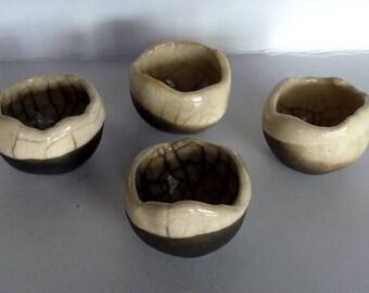4 serving bowls ceramic raku chawan tea bowl zen original sake bowls raku ceramic bowl