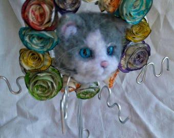 Needlefelt-Cat Earring Hanger