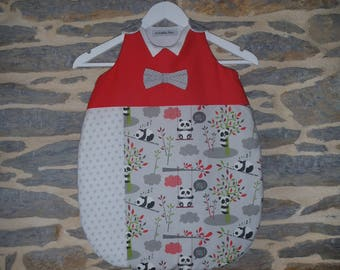 "Sleeping bag 0-6 months ""collar Chic"" (65 cm) customizable to order"