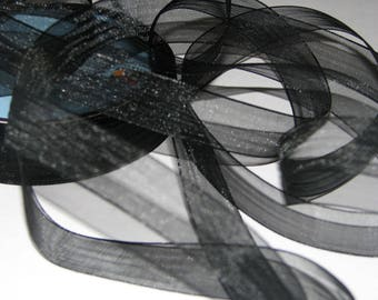 Black chiffon organza Ribbon
