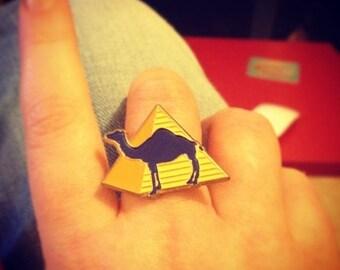 """Camel"" adjustable nickel ring"