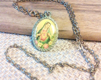 Vintage Virgin Mary pendant