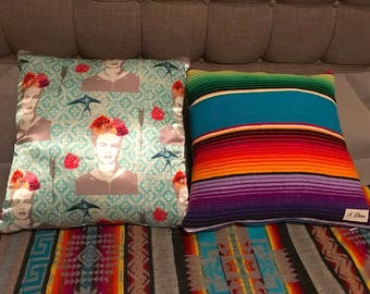 Satin Frida Sarape accent pillows