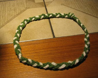 Braided,Crocheted necklace