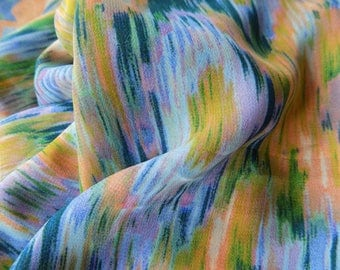 Polyester multicolor embroidery.