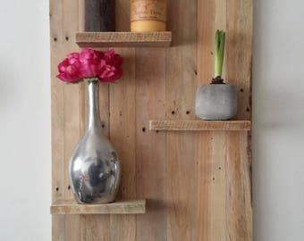 Pallet wood wall shelf
